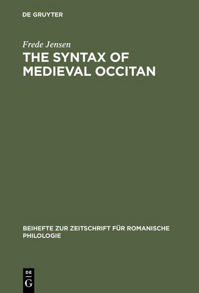 The syntax of medieval Occitan