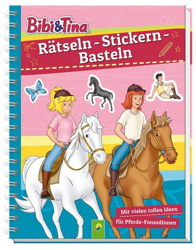 Bibi & Tina -  Rätseln - Stickern - Basteln