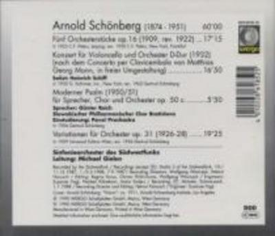 Fünf Orchesterstucke,Op.16/Konzert F.Violonce