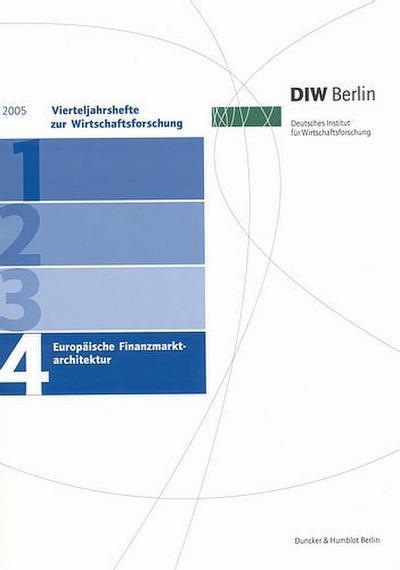 Vierteljahreshefte zur Wirtschaftsforschung 2005/4