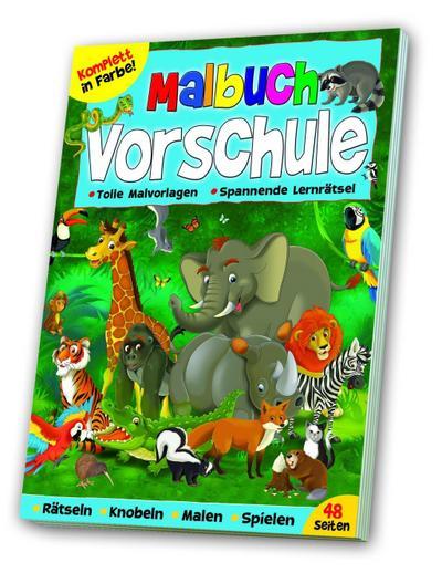 Vorschulmalbuch: Vorschulmalbuch Tiere