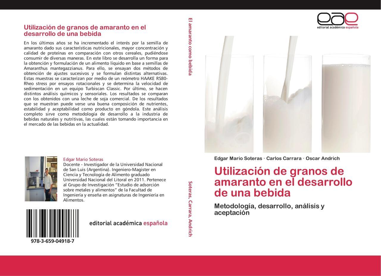 Utilización de granos de amaranto en el desarrollo de una be ... 9783659049187