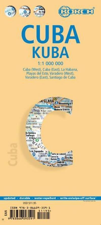 Kuba 1 : 1 000 000. (Borch Maps)