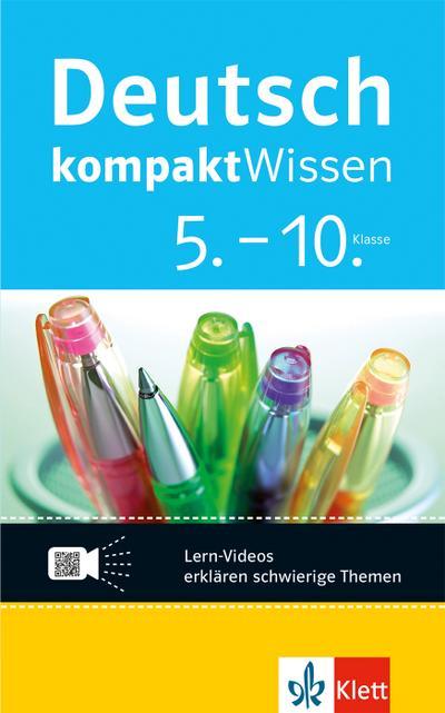 Deutsch KompaktWissen Deutsch 5.-10. Klasse. Mit Lern-Videos online