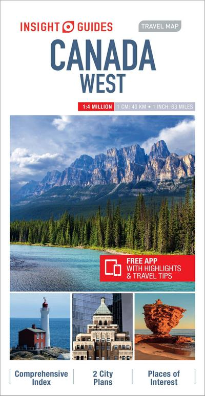 Insight Guides Travel Map Canada West