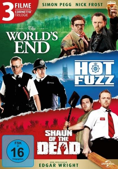 Cornetto Trilogie (The World's End, Hot Fuzz, Shaun of the Dead)