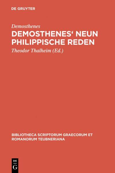 Demosthenes' Neun philippische Reden