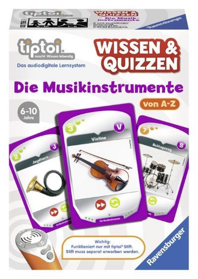 Ravensburger tiptoi 00756 - Wissen und Quizzen: Die Musikinstrumente