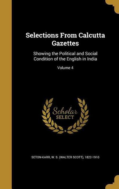 SELECTIONS FROM CALCUTTA GAZET