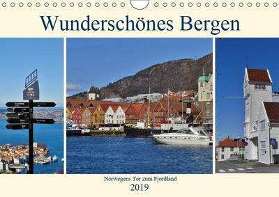 Wunderschönes Bergen. Norwegens Tor zum Fjordland (Wandkalender 2019 DIN A4 quer)