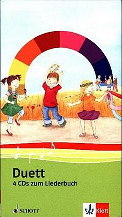 Duett, Ausgabe Grundschule, Neubearbeitung 1.-4. Schuljahr, 4 Audio-CDs zum Liederbuch