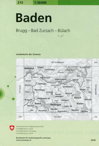 Swisstopo 1 : 50 000 Baden