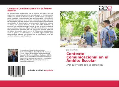 Contexto Comunicacional en el Ámbito Escolar
