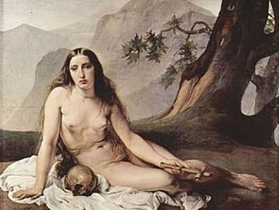 Francesco Hayez - Büßende Maria Magdalena - 100 Teile (Puzzle)