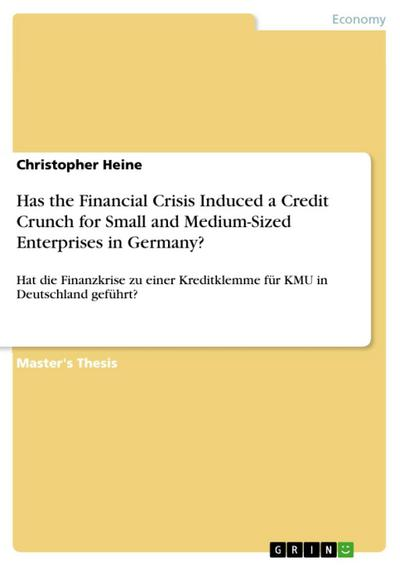 Has the Financial Crisis Induced a Credit Crunch for Small and Medium-Sized Enterprises in Germany?