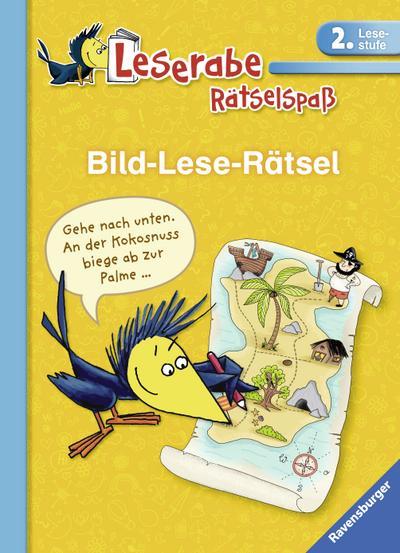 Bild-Lese-Rätsel (2. Lesestufe); Leserabe – Rätselspaß; Ill. v. Keßner, Lydia/Schulmeyer, Heribert; Deutsch; durchg. farb. Ill.; Warnhinweis nach Spielzeug-VO nicht erforderlich.