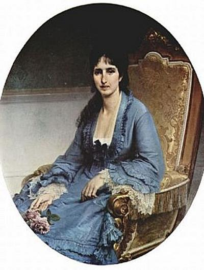 Francesco Hayez - Porträt der Antonietta Negroni Prati Morosini, Oval - 200 Teile (Puzzle)