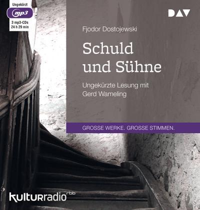 Schuld und Sühne; Ungekürzte Lesung (3 mp3-CDs); Übers. v. Rahsin, E. K.; Deutsch