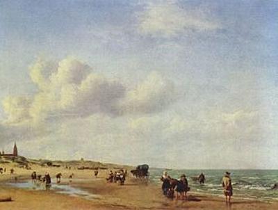 Adriaen van de Velde - Der Strand von Scheveningen - 200 Teile (Puzzle)