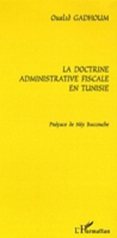 Doctrine administrative fiscale en tunis