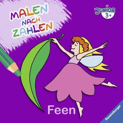 Malen nach Zahlen junior: Feen; Ill. v. Merle, Katrin; Deutsch; durchg. farb. Ill.