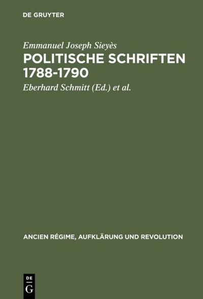Politische Schriften 1788-1790