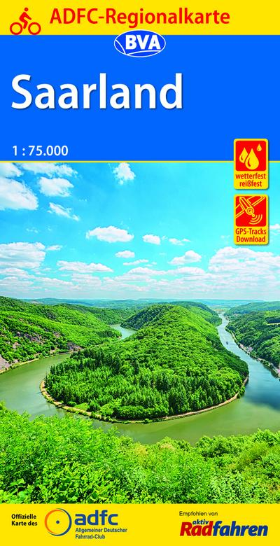 ADFC-Regionalkarte Saarland, 1:75.000