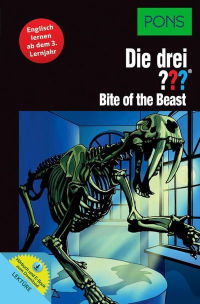 PONS Lektüre Die drei ??? - Bite of the Beast: Englisch lernen ab dem 3. Lernjahr. Mit MP3-Hörbuch und E-Book!
