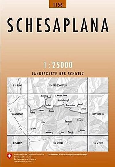 Swisstopo 1 : 25 000 Schesaplana