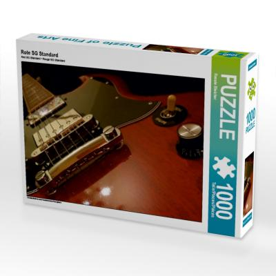 Rote E-Gitarre - Closeup, 1000 Teile