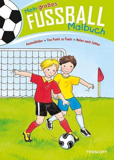 Mein großes Fußball-Malbuch. Ausmalbilder * Von Punkt zu Punkt * Malen nach Zahlen; Von Punkt zu Punkt; Ill. v. Beurenmeister, Corina/Schmidt, Sandra; Deutsch; schw.-w. Ill.