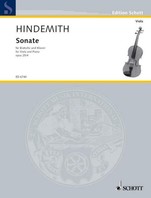 Sonate. op. 25/4. Bratsche und Klavier Paul Hindemith