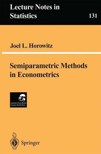 Semiparametric Methods in Econometrics