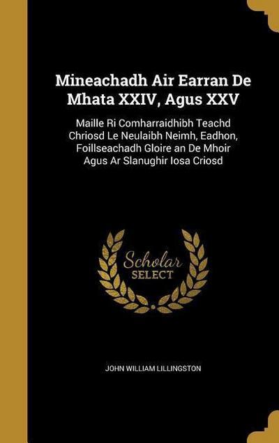 MINEACHADH AIR EARRAN DE MHATA