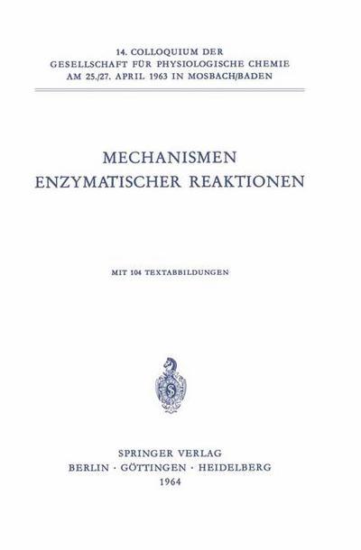 Mechanismen Enzymatischer Reaktionen