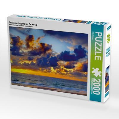 Sonnenuntergang bei De Koog (Puzzle)