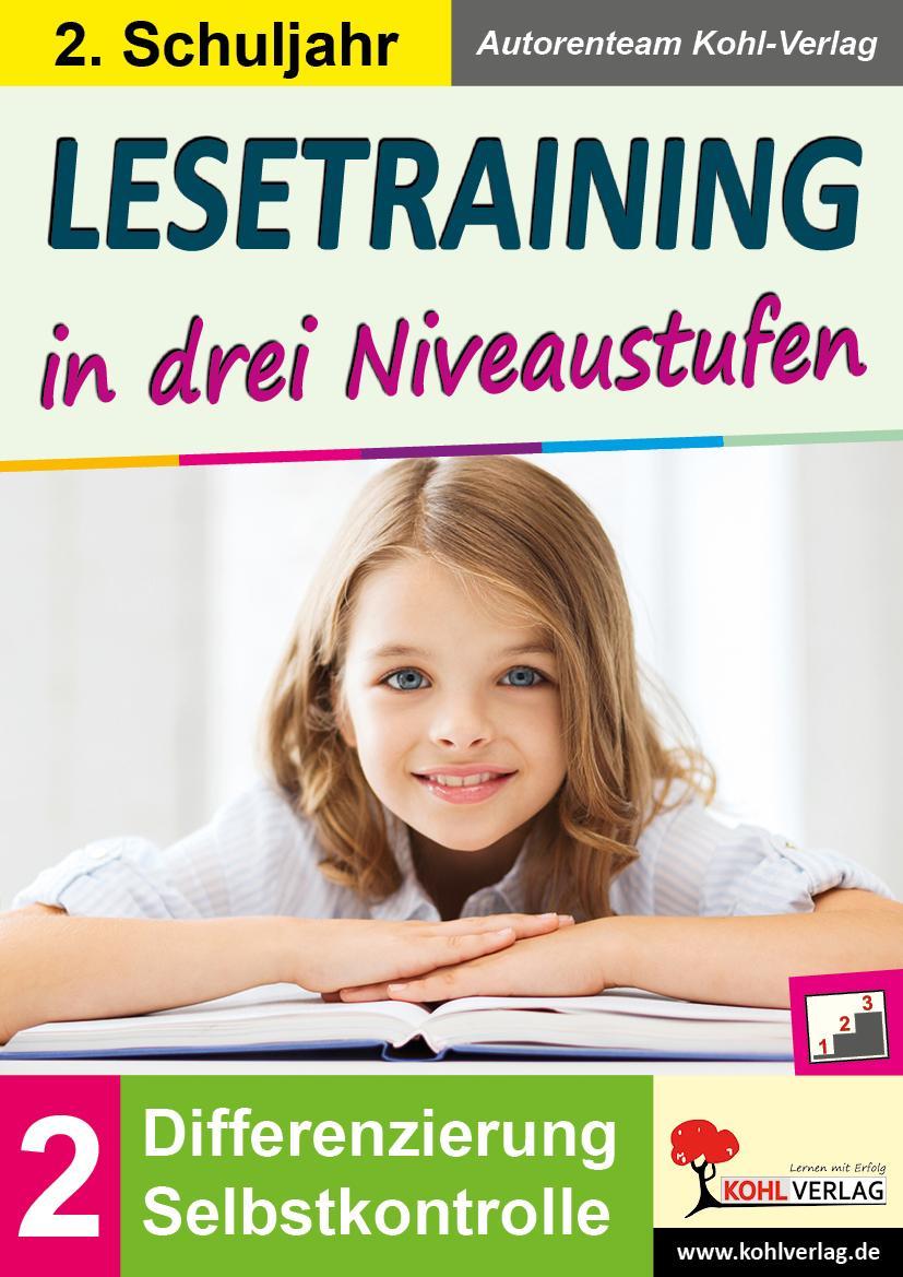 Lesetraining in drei Niveaustufen / Klasse 2