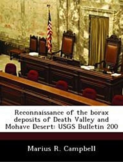 Campbell, M: Reconnaissance of the borax deposits of Death V