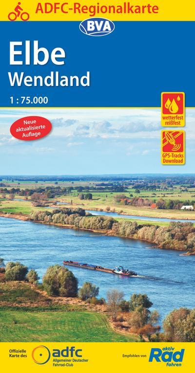 ADFC-Regionalkarte Elbe Wendland 1:75.000