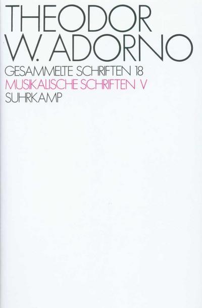 Musikalische Schriften V