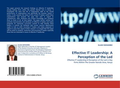 Effective IT Leadership: A Perception of the Led