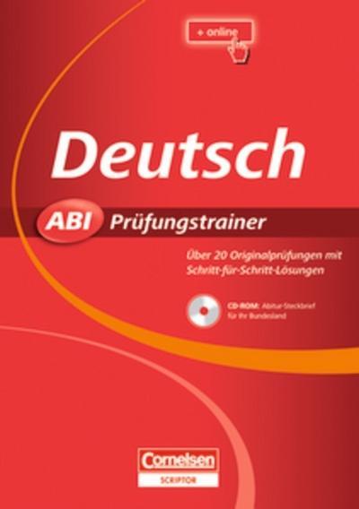 Deutsch Abi Prüfungstrainer, m. CD-ROM