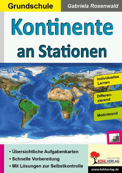 Kontinente an Stationen / Grundschule