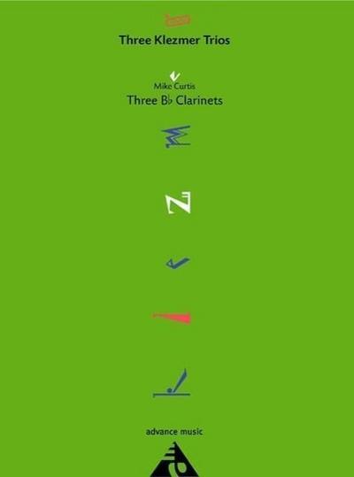 Three Klezmer Trios, 3 Klarinetten (B), Partitur und Stimmen