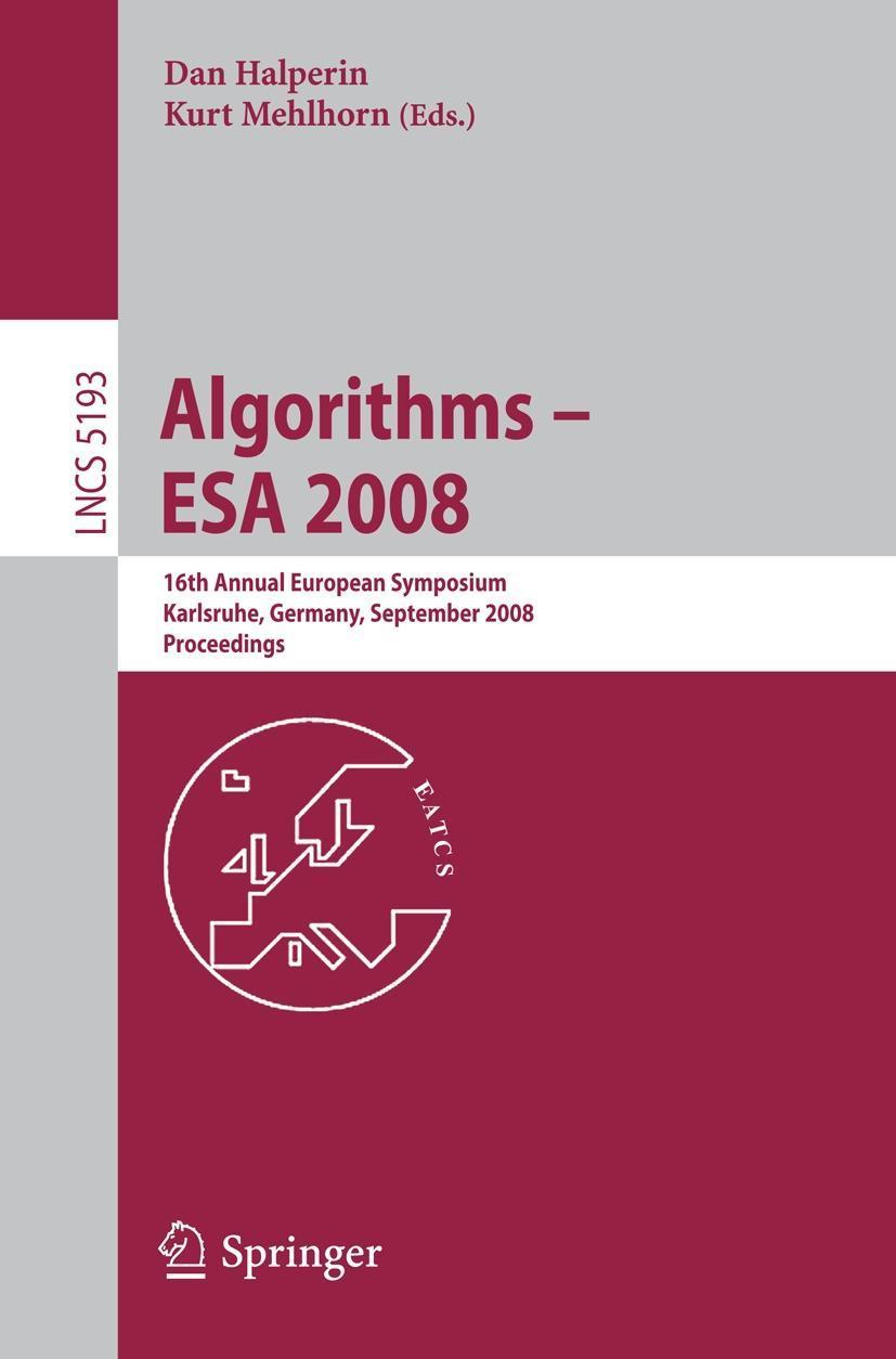 Algorithms - ESA 2008 Dan Halperin