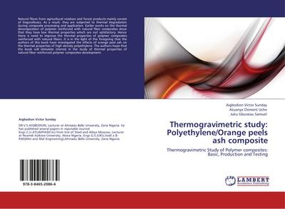 Thermogravimetric study: Polyethylene/Orange peels ash composite