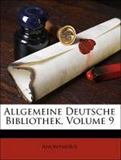 Allgemeine Deutsche Bibliothek, Volume 9