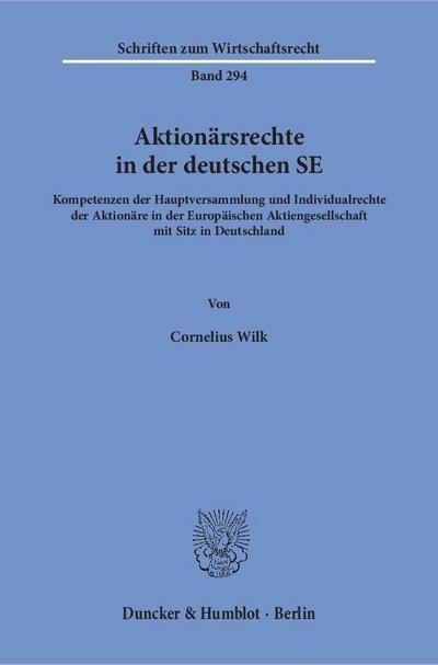 Aktionärsrechte in der deutschen SE