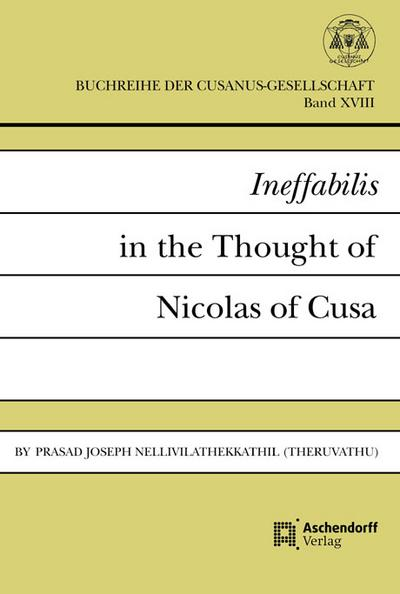 Ineffabilis in the Thought of Nicolas of Cusa