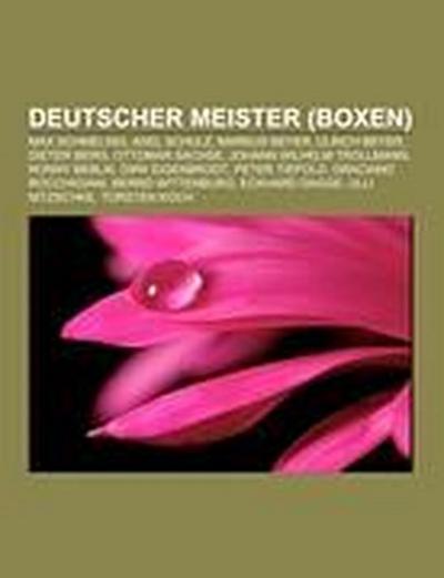 Deutscher Meister (Boxen)